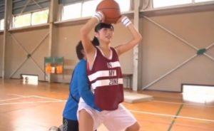 バスケの練習中に